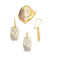 14K Asmina Gold Taşlı Setler