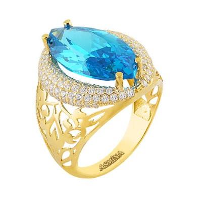 Asmina Gold Renkli Taşlı Yüzükler